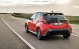 2020 Toyota Yaris prototype drive - hero rear