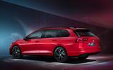 Volkswagen Golf Estate Mk8 studio - rear