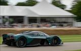 98 Aston Martin Valkyrie Goodwood passenger ride hero side
