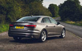 Audi A4 35 TFSI 2019 UK first drive review - static rear