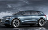 Audi Q4 E-tron electric SUV Geneva 2019 official press images - hero side
