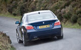 BMW 5 Series E60 road test rewind - hero rear