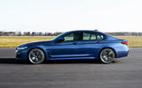 BMW 530e 2020 facelift official images - tracking side
