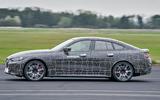 98 BMW i4 2021 prototype drive hero side