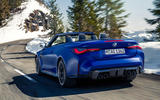 98 BMW M4 Convertible 2021 official reveal hero rear