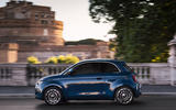 Fiat 500 electric 2020 official press images - tracking side