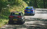 98 Genesis vs Audi twin test 2021 rear
