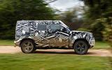 2020 Land Rover Defender prototype ride - hero side