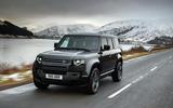 98 Land Rover Defender V8 2021 official images 110 tracking front