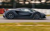 98 Lotus Evija 2021 track drive hero side