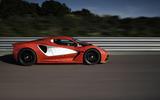 Lotus Evija development car at Hethel - side