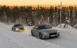 98 Mercedes AMG SL prototype official winter testing pair
