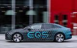 98 Mercedes Benz EQS prototype ride 2021 hero side