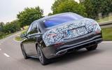 2020 Mercedes-Benz S-Class prototype ride - hero rear