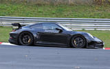 Porsche 911 GT3 prototype at Nurburgring - track side