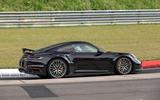 98 Porsche 911 hybrid spy images 2021 side
