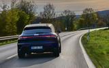 98 Porsche Macan GTS 2021 prototype drive hero rear