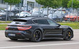Porsche Taycan Cross turismo spy images - rear three quarters