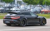 Porsche Taycan Cross turismo spy images - rear three quarters