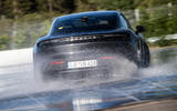 Porsche Taycan breaks electric drift record - official images - rear