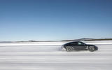 Porsche Taycan prototype ride 2019 - hero side