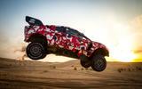 Prodrive BRX T1 in the desert - hero side