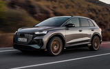 99 Audi Q4 etron 2021 official reveal tracking front