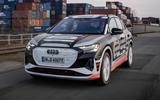 99 Audi Q4 Etron 2021 prototype drive hero front