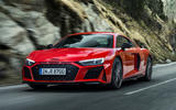 99 Audi R8 Performance RWD 2021 official images coupe tracking front
