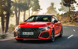 99 Audi RS3 2021 official reveal hatch hero front