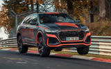 Audi RS Q8 2020 camo ride - hero jump