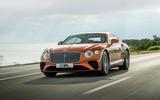 Bentley Continental GT V8 2019 official press - front