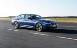 BMW 530e 2020 facelift official images - tracking front