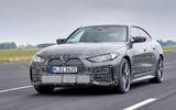 99 BMW i4 2021 prototype drive hero front
