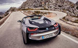 BMW i8 Roadster 2018 first drive review hero action
