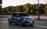 Fiat 500 electric 2020 official press images - tracking front