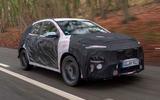 99 Hyundai Kona N prototype drive hero front