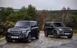 99 Land Rover Defender V8 2021 official images hero pair
