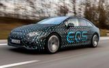 99 Mercedes Benz EQS prototype ride 2021 hero front