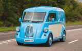 Morris JE electric van official images - tracking front