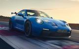 99 Porsche 911 GT3 2021 official images track front