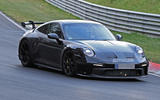 Porsche 911 GT3 prototype at Nurburgring - track front