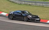 99 Porsche 911 hybrid spy images 2021 hero front
