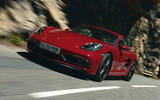 Porsche 718 Cayman GTS 2020 official press images - tracking front