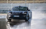 Porsche Taycan breaks electric drift record - official images - lead