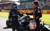99 Racing Lines Hamilton Verstappen fist bump