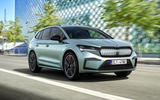 Skoda Enyaq official reveal images - tracking front