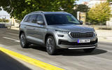 99 Skoda Kodiaq MY2021 facelift official images tracking front
