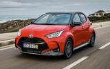 2020 Toyota Yaris prototype drive - hero front