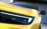 99 Vauxhall Astra 2021 teaser images headlights